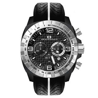 Oceanaut Men's Fair-Play Black Silicon Strap Chronograph Watch