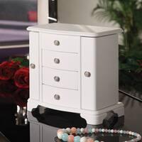 Sally Pure White 2-Door Jewelry Box