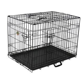 Go Pet Club Black Metal 3-Door 36-inch Pet Cage