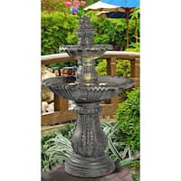 Solerno 57-inch Lighted Outdoor Fountain