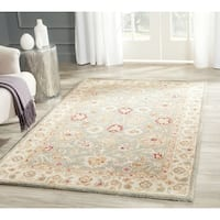 Safavieh Handmade Antiquity Blue-grey/ Beige Wool Rug - 2' x 3'