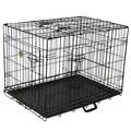 Go Pet Club Black Metal 3-Door 24-inch Pet Cage