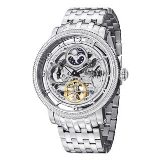 Stuhrling Original Men's Symphony DT Automatic Skeleton Stainless Steel Bracelet Watch|https://ak1.ostkcdn.com/images/products/8041871/P15401111.jpg?impolicy=medium