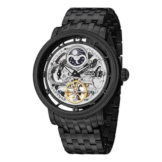 Stuhrling Original Men's Symphony DT Automatic Skeleton Stainless Steel Bracelet Watch