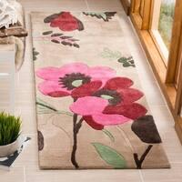 "Safavieh Handmade Bella Sand/ Multi Wool Rug - 2'3"" x 7'"