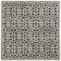 Safavieh Handmade Cambridge Moroccan Black/ Ivory Rug - 8' Square