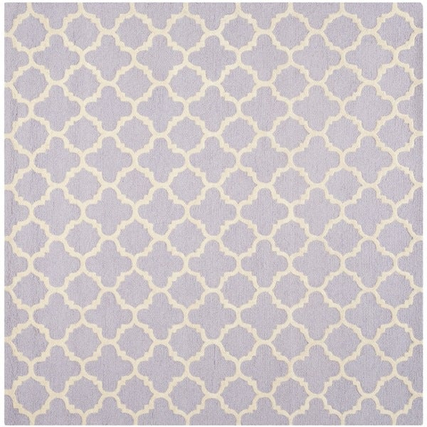 Safavieh Handmade Cambridge Moroccan Lavender Geometric-patterned Wool Rug - 6' x 6' Square