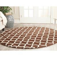 Safavieh Handmade Cambridge Moroccan Dark Brown Pure Wool Rug - 6' Round