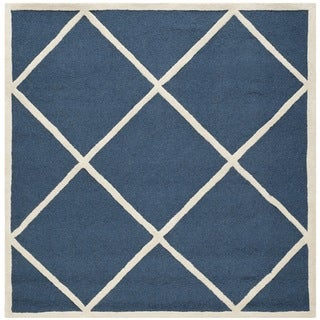 Safavieh Handmade Cambridge Moroccan Navy Tufted Wool Rug (6' Square)