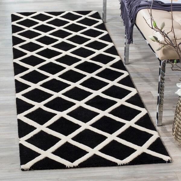Shop Safavieh Handmade Moroccan Chatham Black Wool Rug