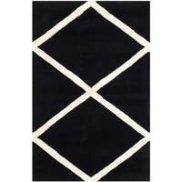 Safavieh Handmade Moroccan Black Rectangle Wool Rug - 2' X 3'