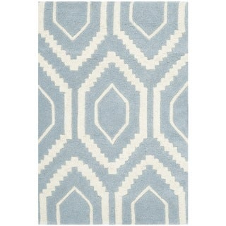 Safavieh Handmade Moroccan Blue Wool Rug with Cotton Canvas Backing (2' x 3')