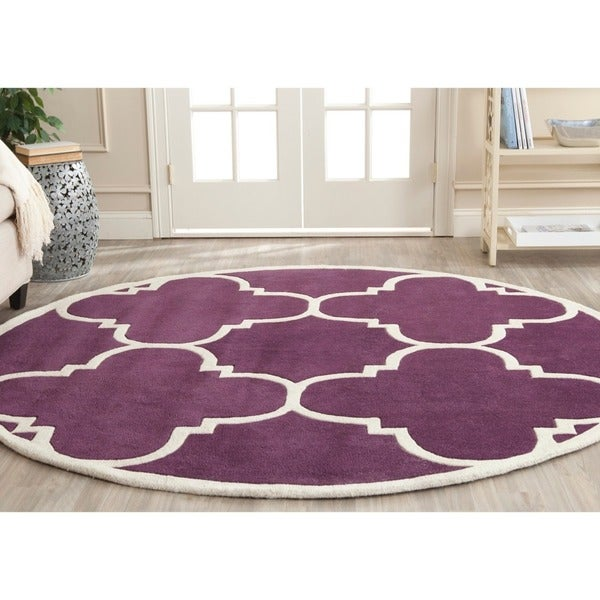 Safavieh Modern Handmade Moroccan Purple Wool Rug