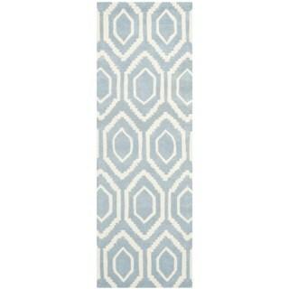 Safavieh Handmade Moroccan Blue Indoor Wool Rug (2'3 x 9')