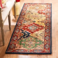 "Safavieh Handmade Heritage Timeless Traditional Red Wool Rug - 2'3"" x 10'"