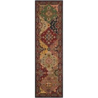 Safavieh Handmade Heritage Timeless Traditional Red Wool Rug - 2'3 x 12'