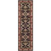 Safavieh Handmade Heritage Timeless Traditional Chocolate Brown/ Red Wool Rug - 2'3 x 12'
