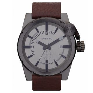Diesel Men's DZ4238 Analog Gunmetal Brown Leather Strap Watch|https://ak1.ostkcdn.com/images/products/8042223/8042223/Diesel-Mens-Gunmetal-Grey-Stainless-Steel-Watch-P15401318.jpg?impolicy=medium