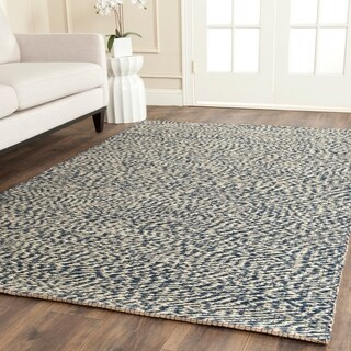 Safavieh Casual Natural Fiber Hand-Woven Doubleweave Blue/ Ivory Jute Rug (6' x 9')