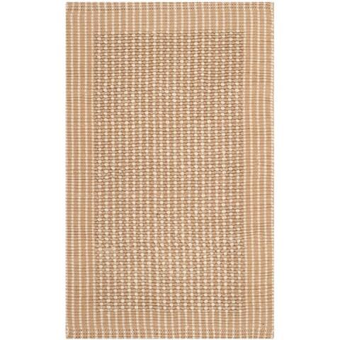 Safavieh Casual Natural Fiber Hand-Woven Loop Ivory / Beige Jute Rug - 2'6' x 4'