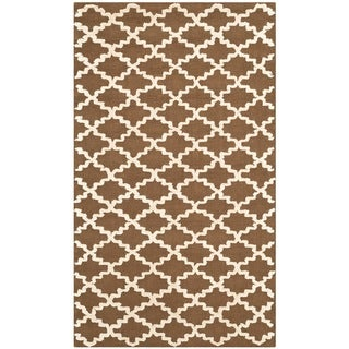 Safavieh Hand-hooked Newport Chocolate/ Ivory Cotton Rug (2'6 x 4'3)