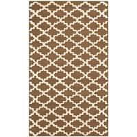 Safavieh Hand-hooked Newport Chocolate/ Ivory Cotton Rug - 2'6 x 4'3