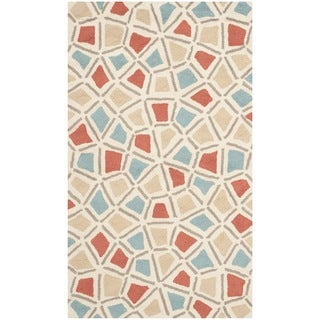 Safavieh Hand-hooked Newport Red/ Blue Cotton Rug (3'9 x 5'9)