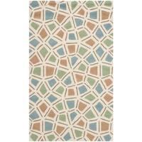 Safavieh Hand-hooked Newport Blue/ Green Cotton Rug - 2'6 x 4'3