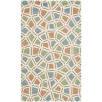 "Safavieh Hand-hooked Newport Blue/ Green Cotton Rug - 3'9"" x 5'9"""