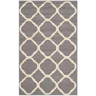 Safavieh Hand-hooked Newport Grey/ Ivory Cotton Rug (2'6 x 4'3)