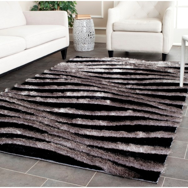 Safavieh Handmade 3d Shag Modern Black Grey Area Rug 8