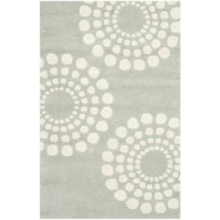 Safavieh Handmade Soho Grey/ Ivory New Zealand Wool Rug (2'6 x 4')