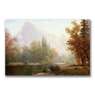 Albert Bierstadt 'Half Dome Yosemite' Canvas Art