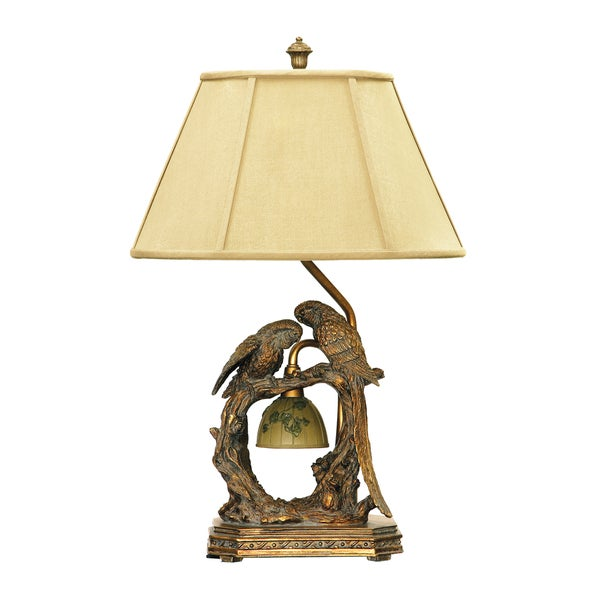Dimond Lighting Twin Parrots 1-light Atlanta Bronze Table Lamp