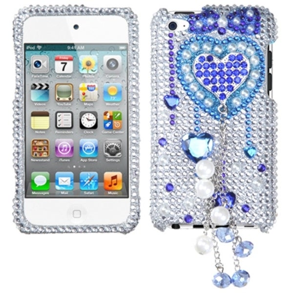 BasAcc Blue Heart Chain Case for Apple iPod Touch 4th Generation