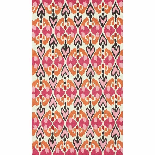 Shop NuLOOM Handmade Ikat Pink Rug (8'3 X 11')