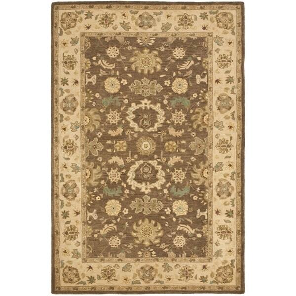 Safavieh Handmade Anatolia Treasure Oriental Brown/ Beige Hand-spun Wool Rug - 4' x 6'