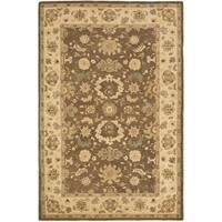 Safavieh Handmade Anatolia Treasure Oriental Brown/ Beige Hand-spun Wool Rug - 6' x 9'