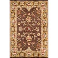 Safavieh Handmade Anatolia Classic Oriental Brown/ Gold Hand-spun Wool Rug - 5' x 8'