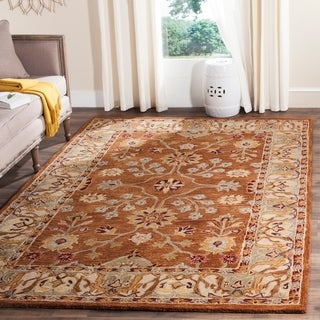 Safavieh Hand-made Anatolia Tan/ Ivory Wool Rug (5' x 8')