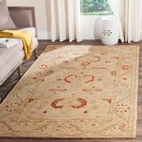 Safavieh Handmade Anatolia Elegance Oriental Traditional Beige Hand-spun Wool Rug - 6' x 9'