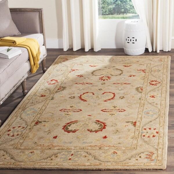 6 X9 Handmade Persian Wool Silk Area Rug Oriental Design: Safavieh Handmade Anatolia Elegance Oriental Traditional