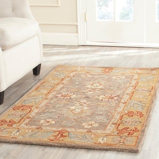 Safavieh Hand-made Anatolia Brown/ Camel Wool Rug (4' x 6')