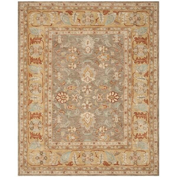 Safavieh Handmade Anatolia Oriental Brown/ Camel Hand-spun Wool Rug - 8' x 10'