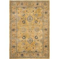Safavieh Handmade Anatolia Oriental Golden Pear/ Smoke Hand-spun Wool Rug - 6' x 9'