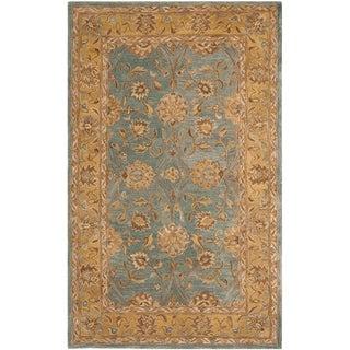 Safavieh Handmade Anatolia Oriental Blue/ Green Hand-spun Wool Rug (4' x 6')