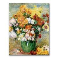Pierre Renoir 'Bouquet of Chrysanthemums' Canvas Art - Multi