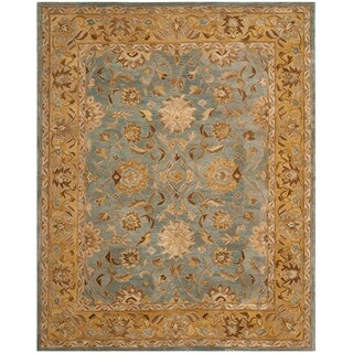Safavieh Handmade Anatolia Oriental Blue/ Green Hand-spun Wool Rug (9' x 12')