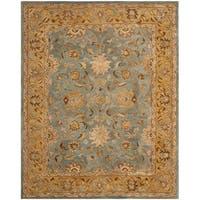 Safavieh Handmade Anatolia Oriental Blue/ Green Hand-spun Wool Rug - 9' x 12'