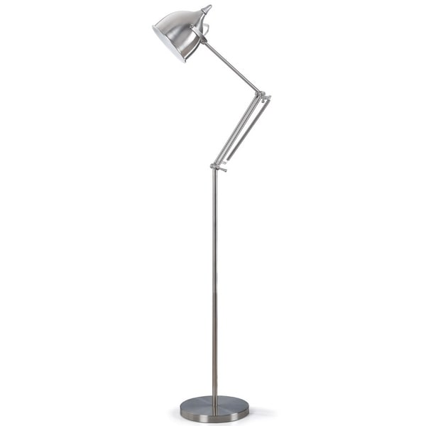 Artiva USA Silverado Contemporary 61-inch Brushed Steel Metal Floor Lamp with Adjustable Arm. Opens flyout.